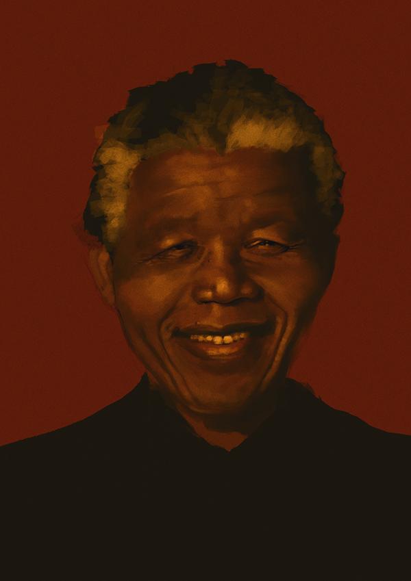 Nelson Mandela digital illustration by Hanson Akatti