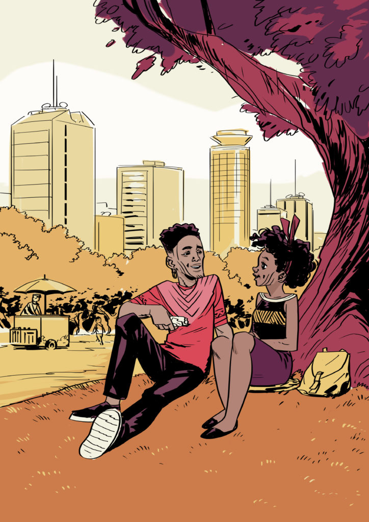Kahawa comic by Avandu Vosi