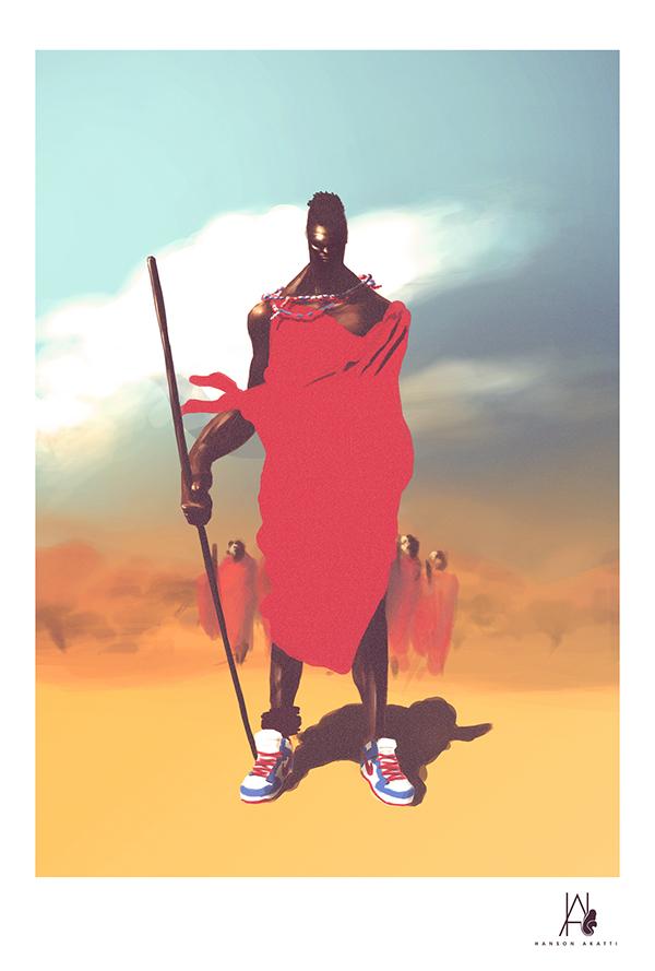 Massai In Dunks by Hanson Akatti