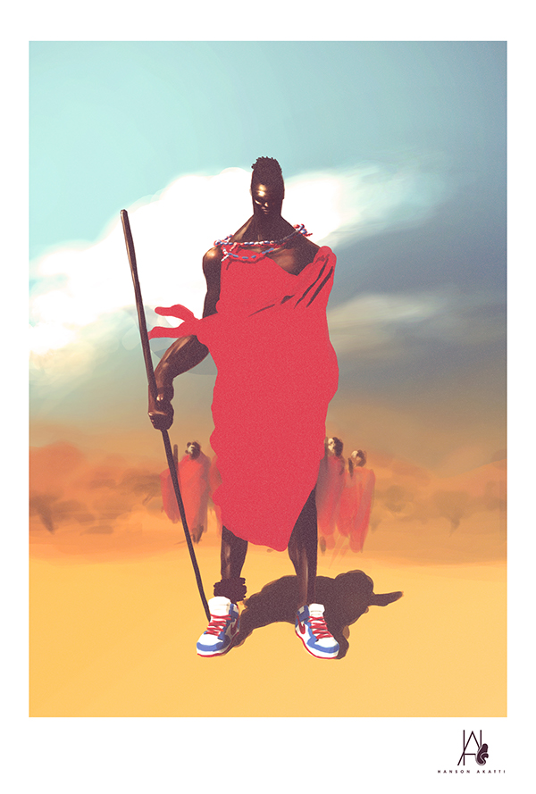 Massai In Dunks by Hanson Akatti