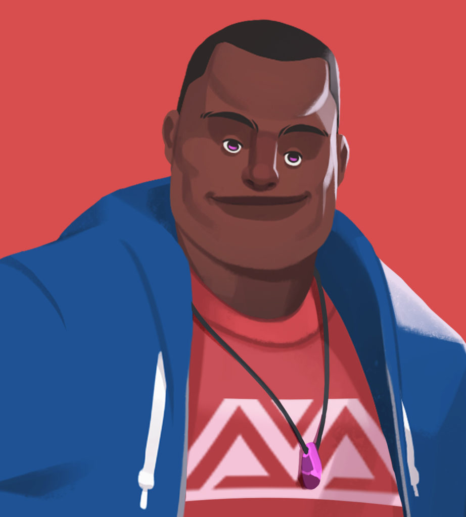 Kofi Braku Star Ofosu (creator of Fikos Corner) illustration by Alfred Achiampong