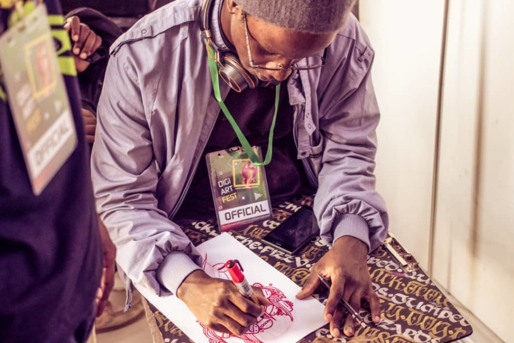 Live sketching at DigiArt Fest 2019
