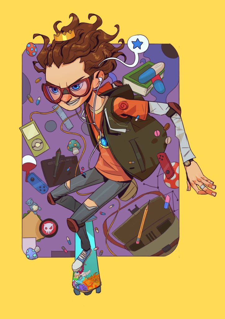 skater boi character design by Kofi Ofosu
