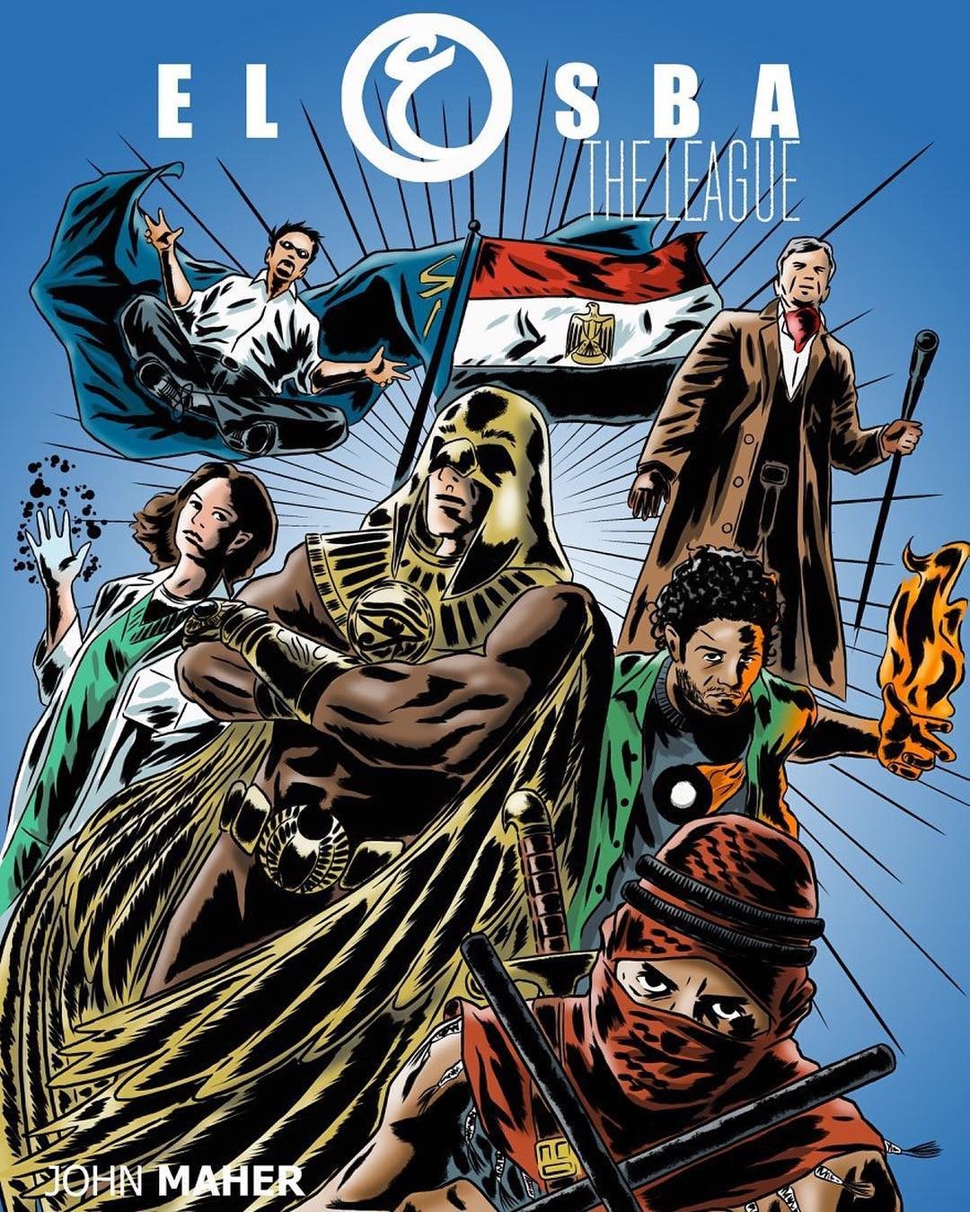 El3osba The League Egyptian superhero comic