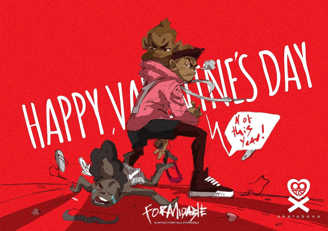 Happy Vals Day by Kobe Taylor for Akolabone