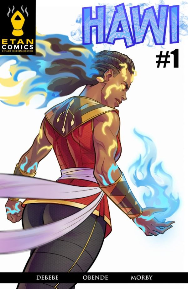 comic book cover of Hawi illustrated by Stanley Obende for Etan Comics