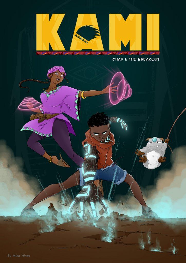 Kami comic book cover by Mika Hirwa