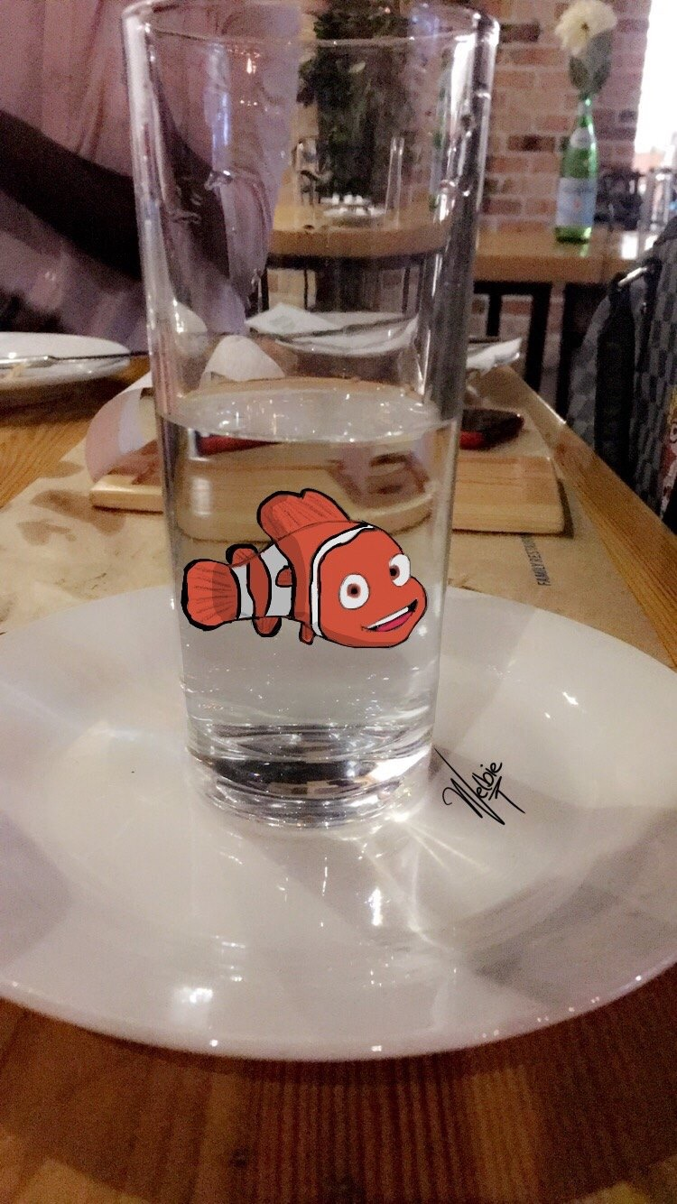 Lost finding nemo in a glass by Welbie