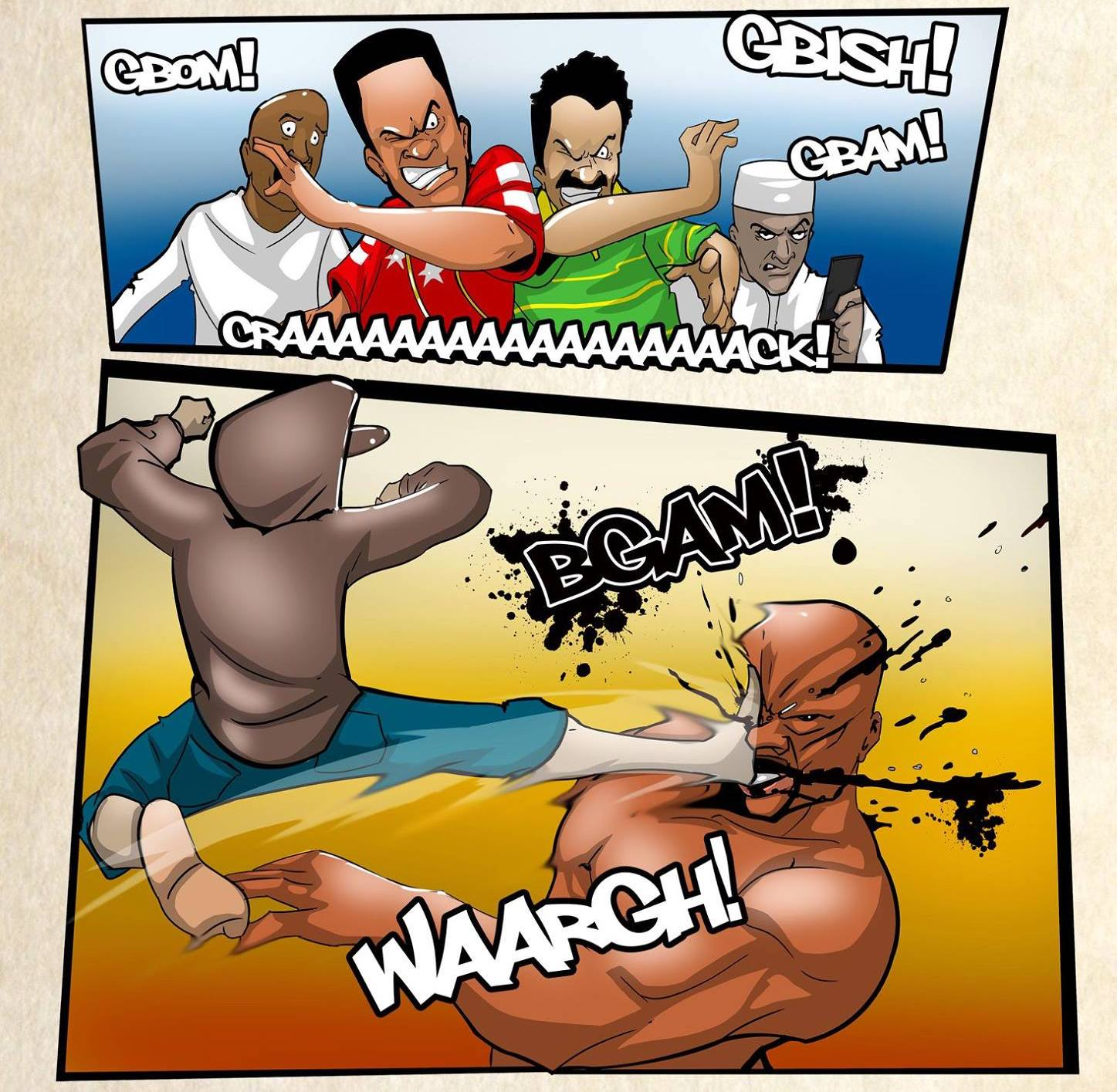 Shanko vs Buga. Misfit. © Awonda Comics/ Collyde Prime
