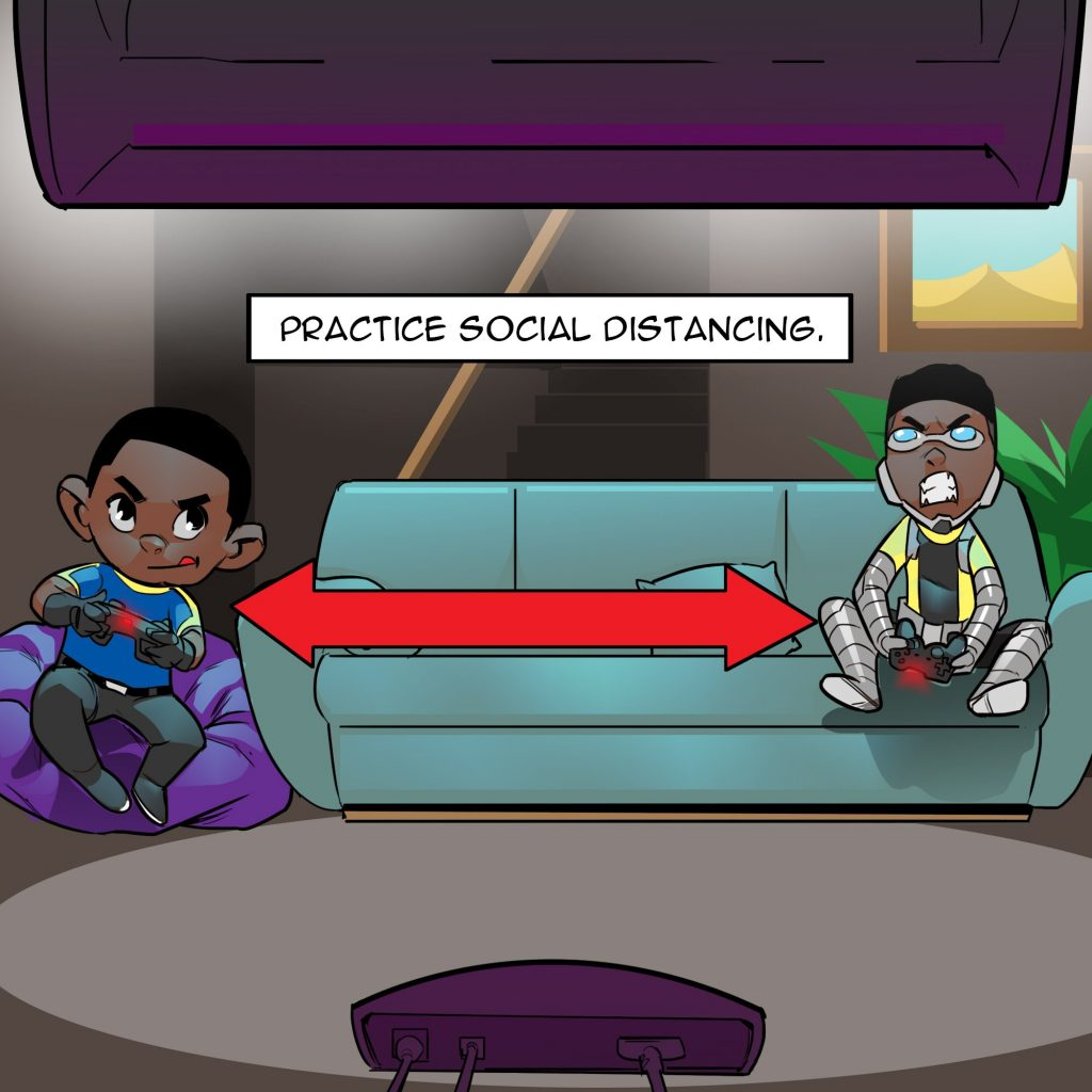 Social Distancing Quarantine safety tips by Comic Republic
