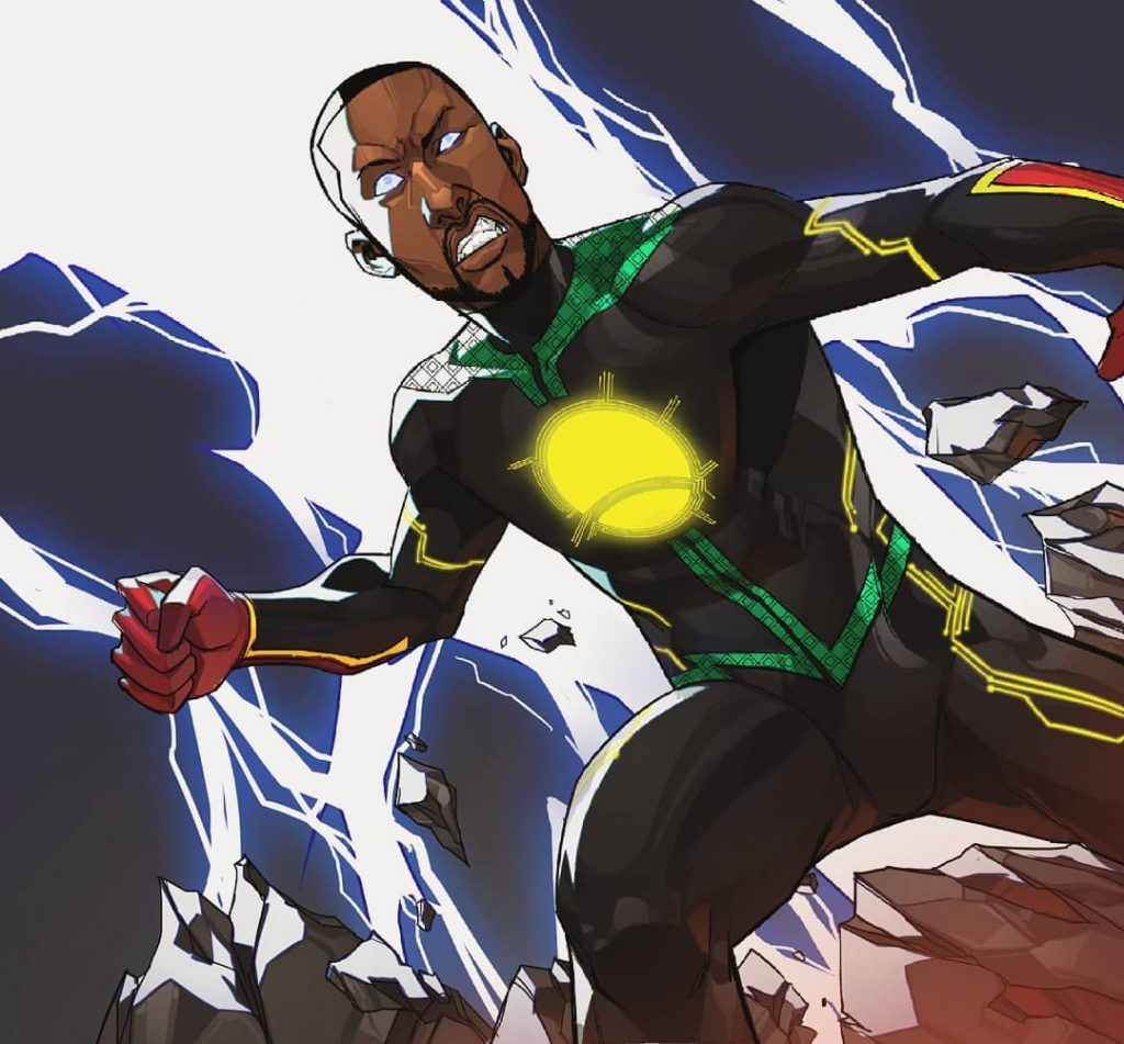 Jember, Ethiopia's first superhero comic illustration by Stanley Obende published by Etan Comics