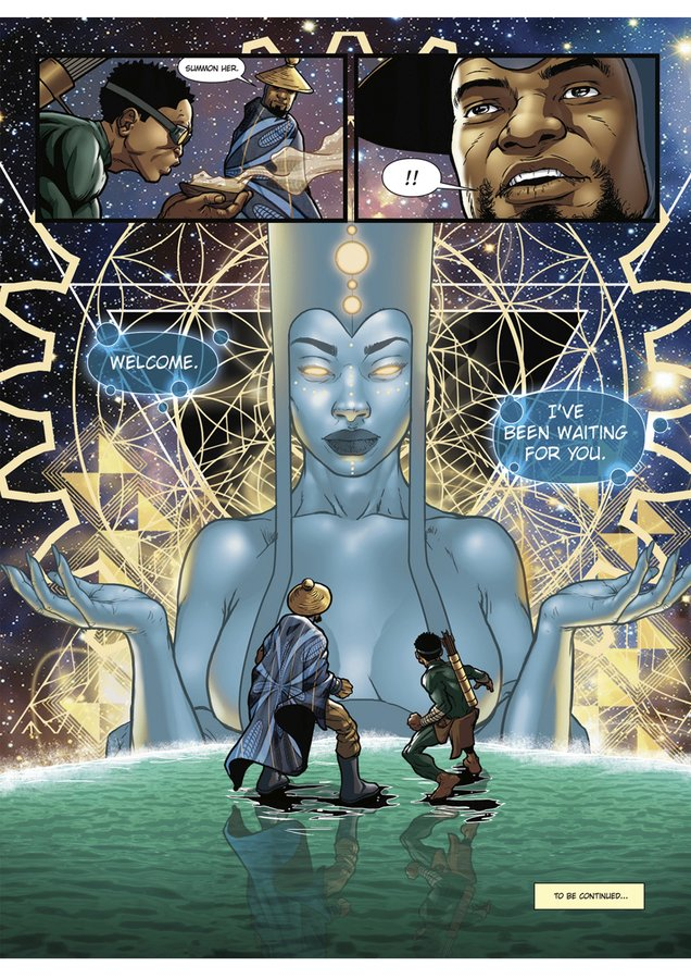 Page from Kwezi comic book by Loyiso Mkize