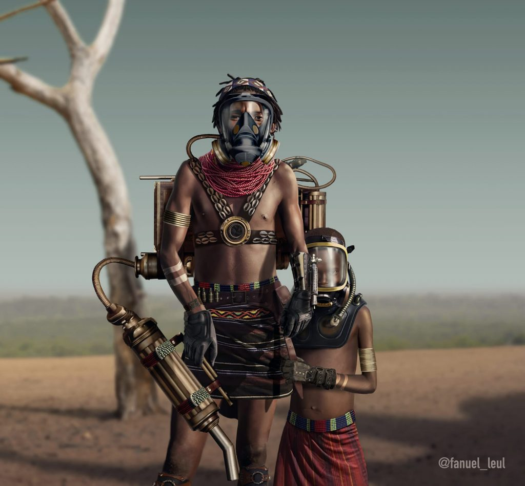 We owe it to the future to protect an afrofuturist illustration by Fanuel Leul