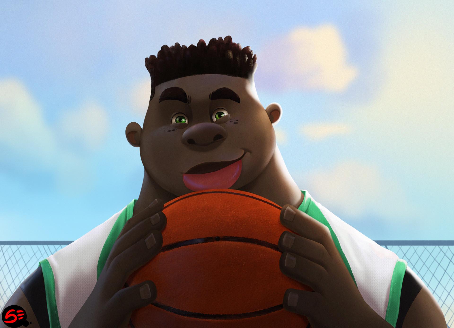 Basketball player 3d illustration by Segun Samson