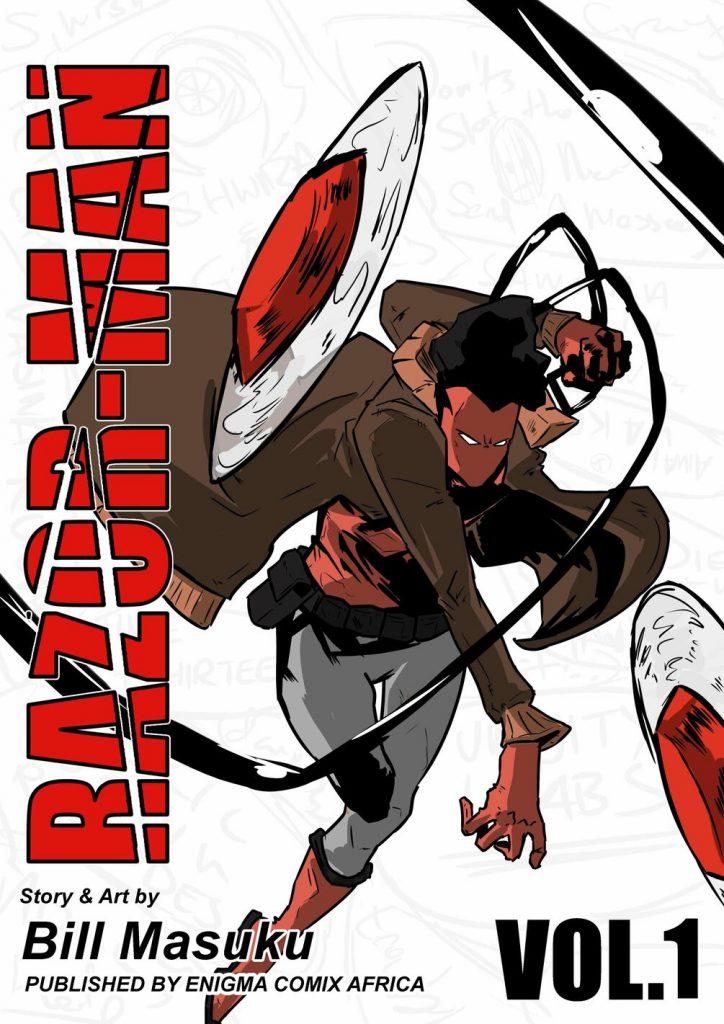 Razor-Man African superhero comic by Bill Masuku