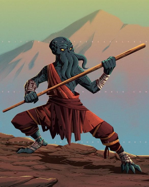 Mind Flayer Monk by Ben Geldenhuys