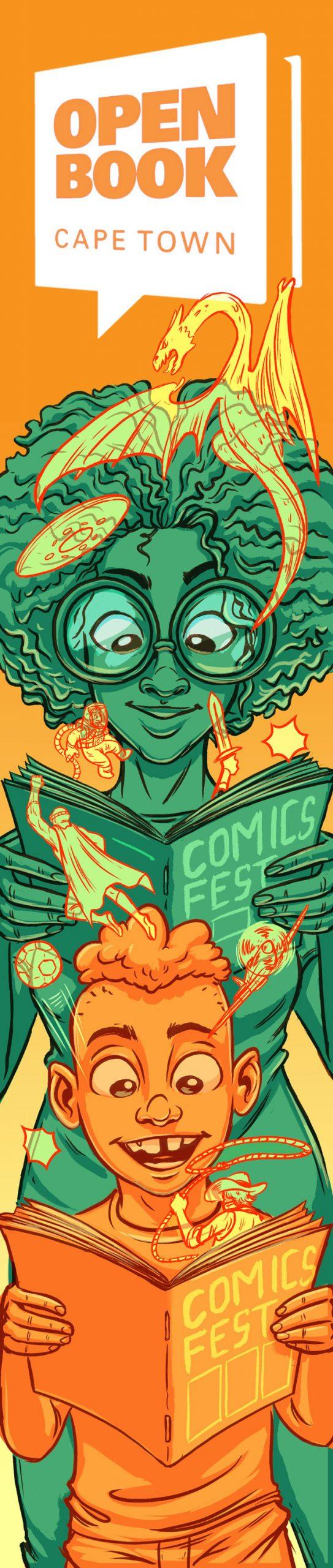 Outdoor banner design for Open Book Comics Fest.  by Ben Geldenhuys