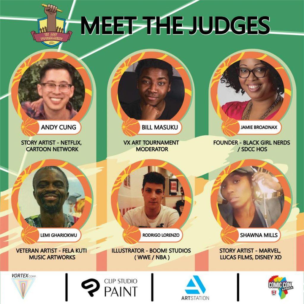 VX Art Tournament 2021 Judges